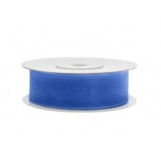Ruban de soie 19 mm - bleu roi