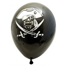10 ballons Pirates rouge & noir