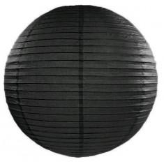 Lampion papier noir 35 cm