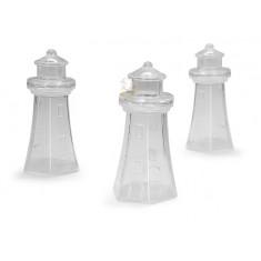 3 Contenants dragées phare en plexi  4cm x  8cm