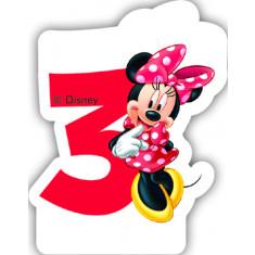 Bougie Minnie age 3 ans