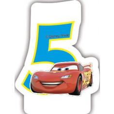 Bougie anniversaire 5 ans Cars