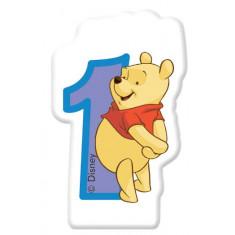 Bougie d'anniversaire n°1  - Winnie l'Ourson