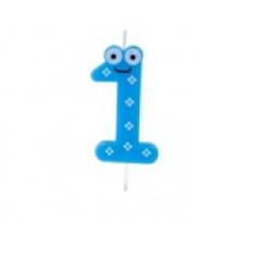 """Bougie anniversaire fantaisie """"1"""""""