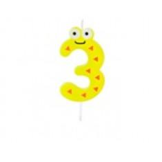 """Bougie anniversaire fantaisie """"3"""""""