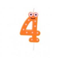 """Bougie anniversaire fantaisie """"4"""""""