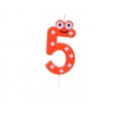"""Bougie anniversaire fantaisie """"5"""""""