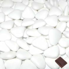 1kg Dragées coeur chocolat - blanc