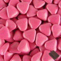 Dragées coeur fuchsia 1 kg