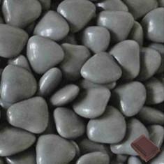 Dragées coeur pas cher gris 1 kg