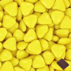 1kg Dragées coeur chocolat jaune