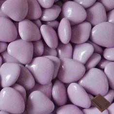 Dragées coeur chocolat - parme - 1kg