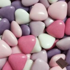 1 kg Dragées cœur chocolat - variation rose