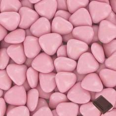 1 kg Dragées coeur chocolat - rose