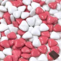 Dragées coeur variaiton Rouge / Blanc - 1kg