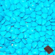 Dragées petits cœurs - turquoise -1kg