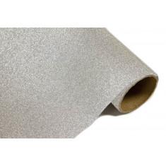 Chemin de table effet métal pailleté - Argent