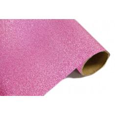 Chemin de table effet métal pailleté - Fuchsia