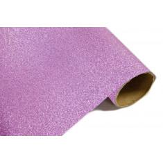 Chemin de table effet métal pailleté - Rose