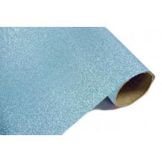 Chemin de table effet métal pailleté - Turquoise