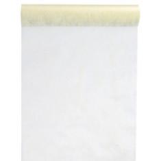 Chemin de table Intissé ivoire 30 cm