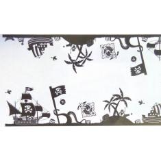 Chemin de table dessin pirate noir
