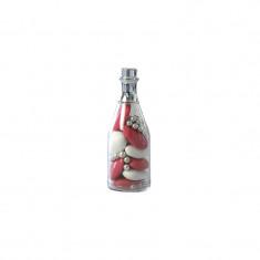 contenants dragées bouteille champagne argent