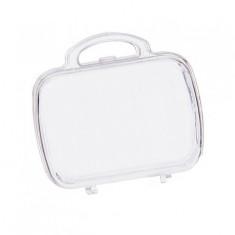 Contenant dragées valise en plexi 7cm x 3,5 cm x 6,5 cm