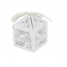 x 20 Contenant dragées papillon blanc