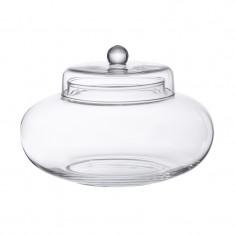 Bonbonnière en verre bombée - 13 x 20 cm