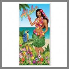 "Décoration de porte ""Aloha"" - Thème Hawaï"