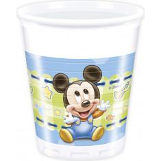 8 gobelets en plastique 20 cl - Mickey Baby