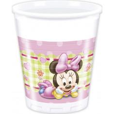8 gobelets en plastique 20 cl - Minnie Baby