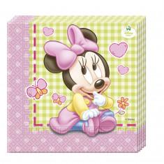 20 serviettes en papier 33 x 33 cm - Minnie Baby