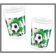 Gobelets Football Green - x10