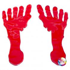 Set 2 stickers traces de pied sanglantes