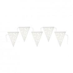 Guirlande à fanions triangulaires - blanc