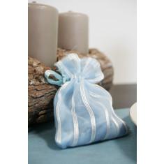 6 sachets fantaisie - Bleu 8 cm x 10 cm
