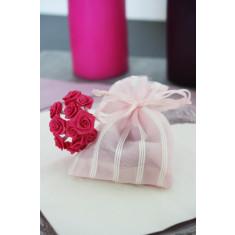6 sachets fantaisie - Rose 8 cm x 10 cm