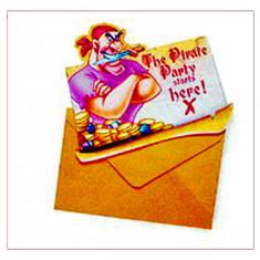 Invitations Pirates - x 6