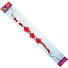 Bracelet fleur cristal - 22 cm
