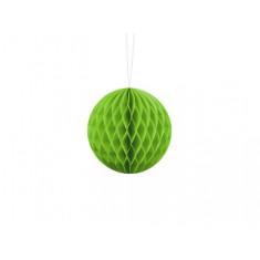 Boule Papier Alvéolée vert pomme 40 cm