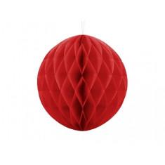 Boule Chinoise Alvéolée rouge 30 cm