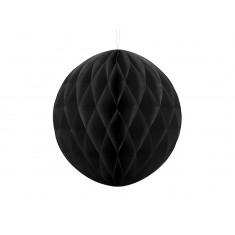 Boule Chinoise Alvéolée noire 30 cm