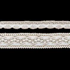 2 Rubans coton dentelle blanche - 1.5 m
