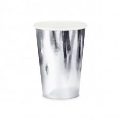 x6 gobelets métallisés - argent