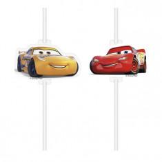 4 Pailles médaillon Cars 3