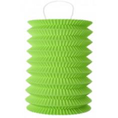 2 Lampions cylindrique vert - 18 cm