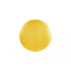 Lampion papier jaune 25 cm