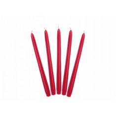 10 Bougies flambeau 24 cm - rouge
